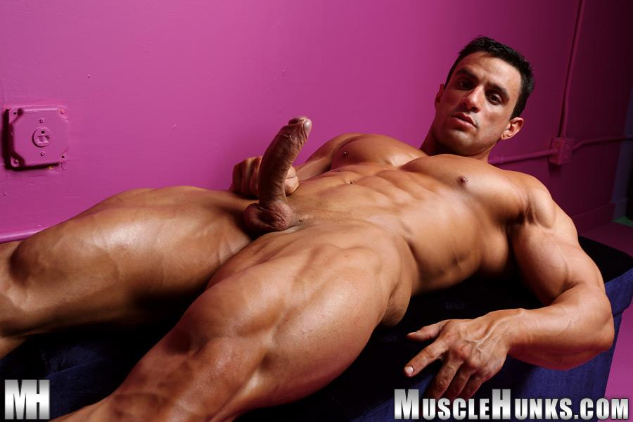 Muscle-Hunks-Macho-Nacho-Powerlifter-With-A-Big-Uncut-Cock-Amateur-Gay-Porn-06 Muscle Hunk Macho Nacho Playing With His Big Uncut Cock