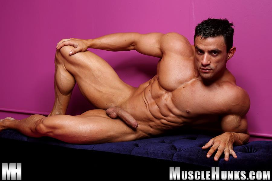 Muscle-Hunks-Macho-Nacho-Powerlifter-With-A-Big-Uncut-Cock-Amateur-Gay-Porn-11 Muscle Hunk Macho Nacho Playing With His Big Uncut Cock