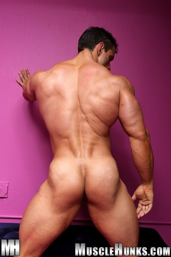 Muscle-Hunks-Macho-Nacho-Powerlifter-With-A-Big-Uncut-Cock-Amateur-Gay-Porn-14 Muscle Hunk Macho Nacho Playing With His Big Uncut Cock