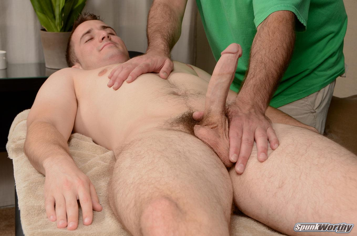 Twink Masseur Rubs Down Straighty