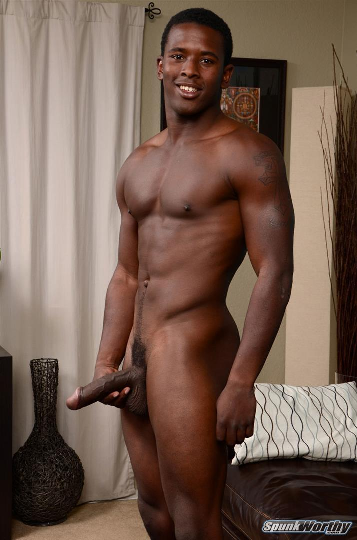 Beefy Black Athlete Blowing Big Cocks