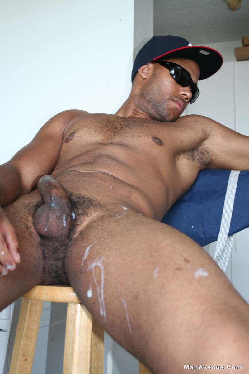 Black Guy Jerking Off Solo