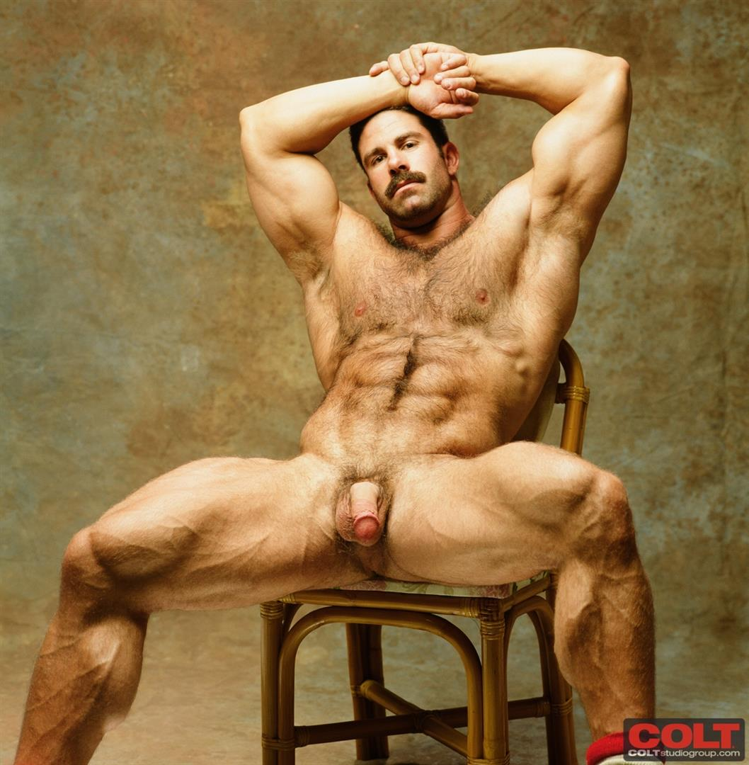 Colt-Studio-Group-Pete-Kuzak-Hairy-Muscle-Hunk-With-Hairy-Cock-Amateur-Gay-Porn-14 Hairy Muscle Hunk Colt Icon Pete Kuzak Showing It All