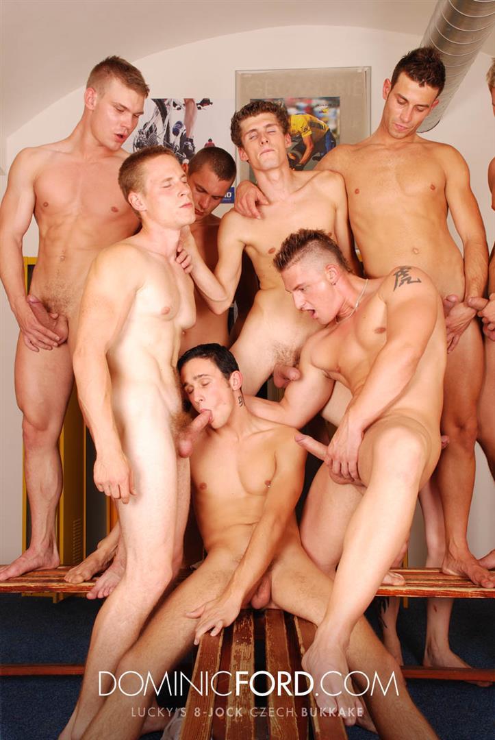 Dominic-Ford-8-Guy-Jocks-Big-Uncut-Cock-Bukkake-Czech-Amateur-Gay-Porn-363 Amateur Czech Uncut Jocks Giving One Lucky Guy An 8 Man Bukkake
