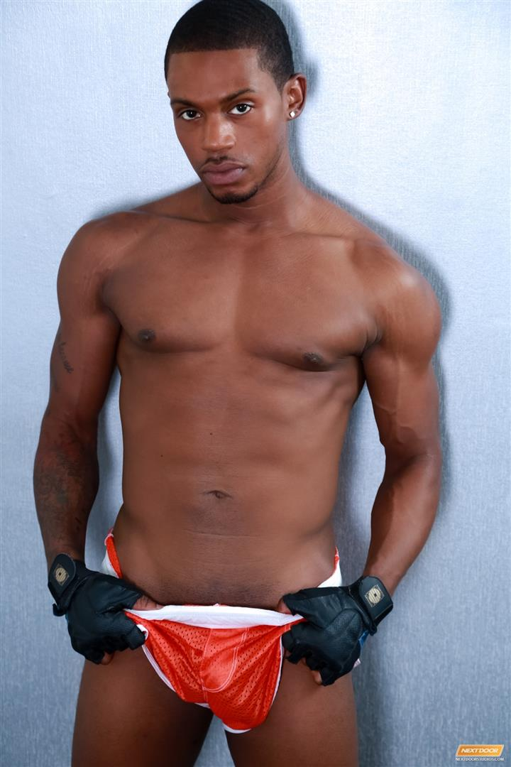 image Black athletic physical gay after his