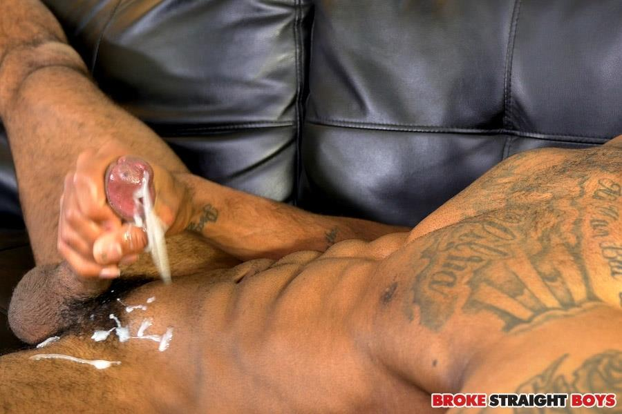 Black Shemale Jerking Off