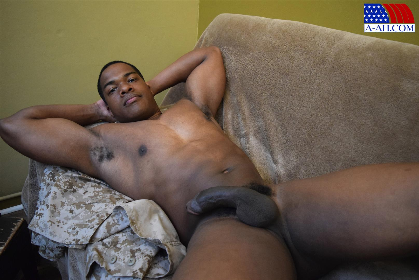 Athletic Black Hunk Stroking Bbc