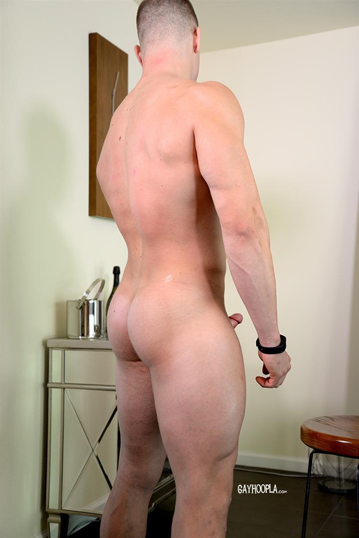 Gay-Hoopla-Miles-Houston-American-Bodybuilder-Jock-Jerking-Off-Amateur-Gay-Porn-12 American Muscle Jock Miles Houston Auditions For Gay Porn