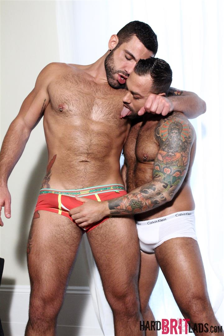 Hard Brit Lads Sergi Rodriguez and Letterio Amadeo Big Uncut Cock Fucking Amateur Gay Porn 03 Hairy British Muscle Hunks Fucking With Their Big Uncut Cocks