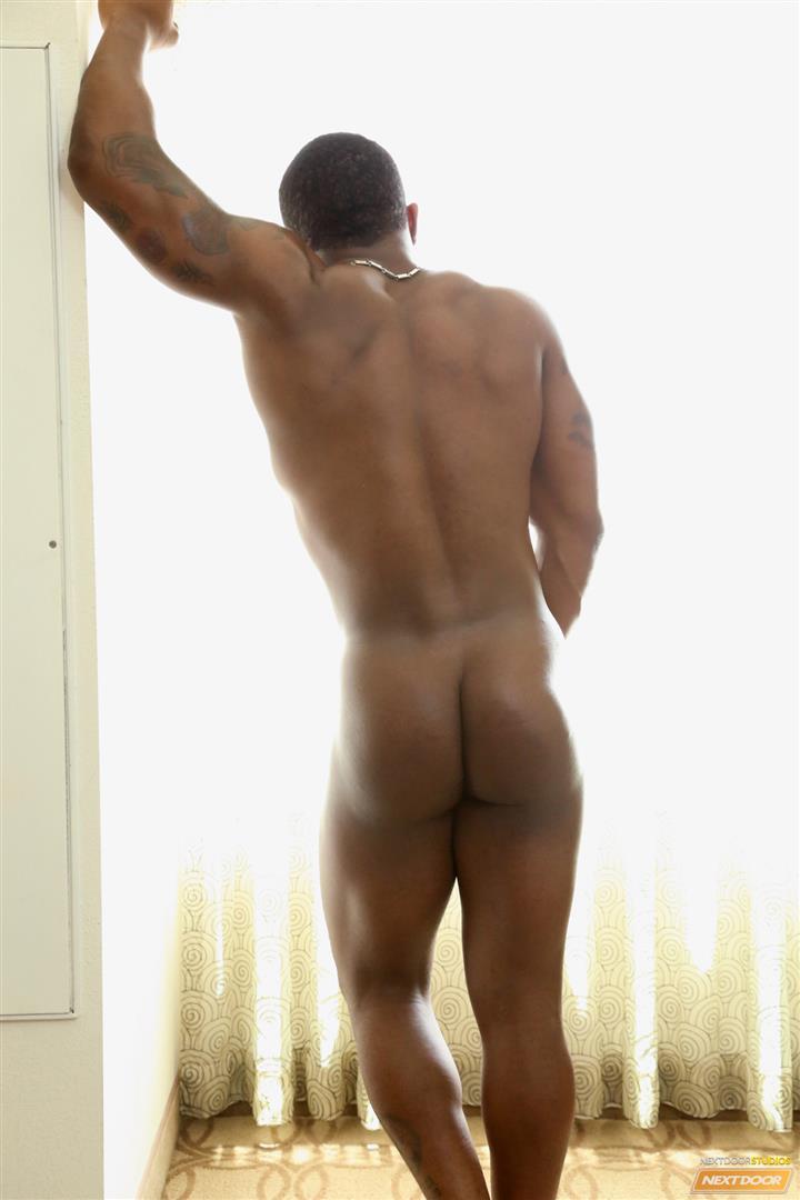 Next-Door-Ebony-Mustang-Muscular-Black-Guy-Jerking-Big-Black-Cock-Big-Uncut-Cock-Amateur-Gay-Porn-06 Bisexual Muscular Black Guy Strokes His Big Black Cock