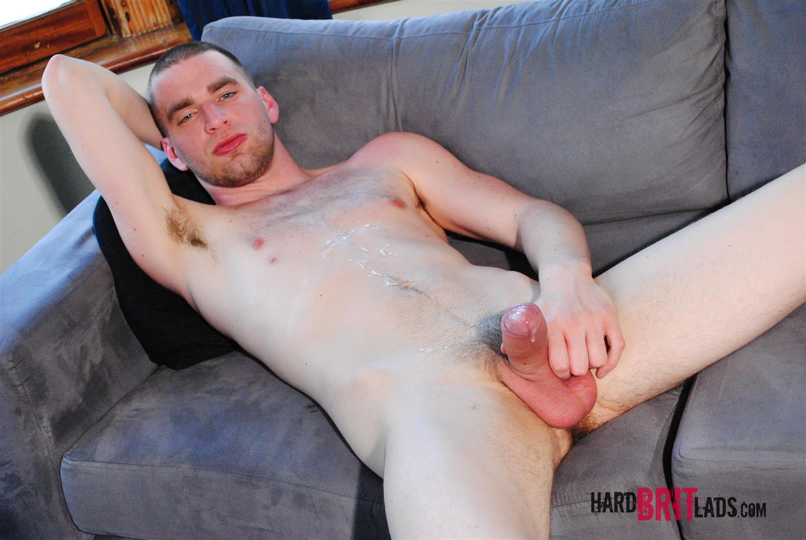 Hard-Brit-Lads-Blake-D-Big-Uncut-Cock-Masturbation-Amateur-Gay-Porn-22 British Jock Playing With His Massive Uncut Cock Squirts A Load